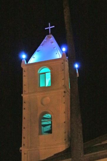 Bell tower before Mass.