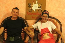 Danilo and Elena - she cooks, he looks after the guests. Aren't they cute?