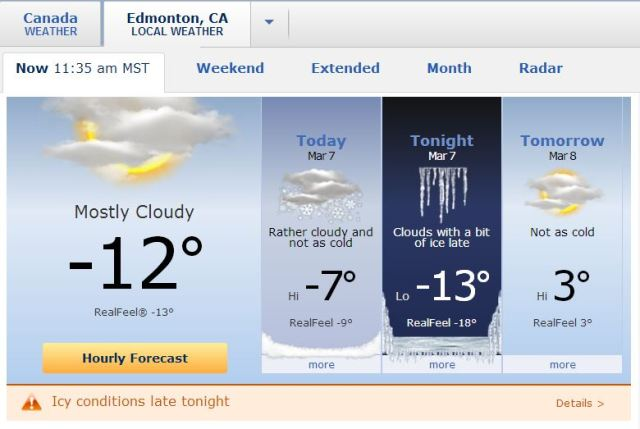 Weather Edmonton  07_03_14