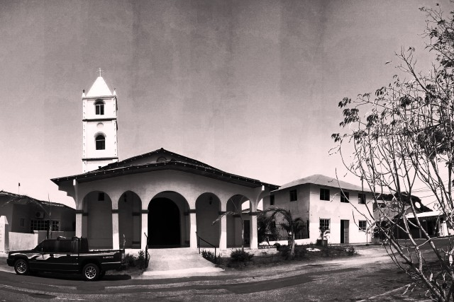 Santa Catalina Church, panoramic view