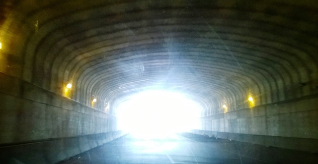 A tunnel with light