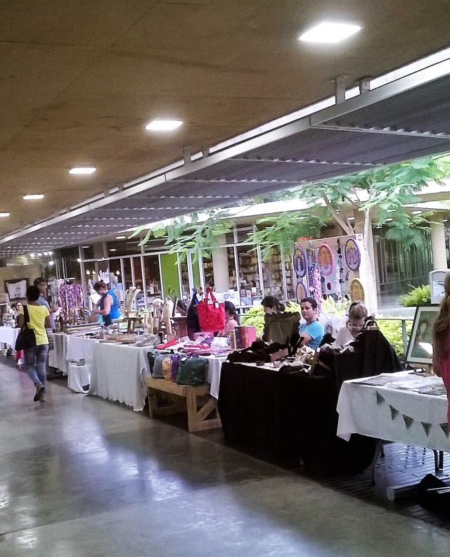 A view of more vendors.
